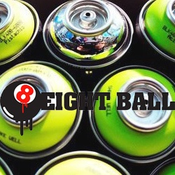 Street art Toulouse boutique eight ball store