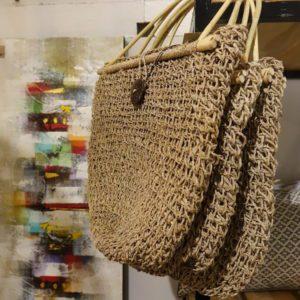 sac en jonc de mer , rotin et bouton coco Toulouse boutiques