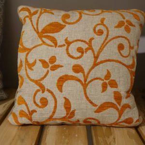 coussin plante orange 40x40 Toulouse boutiques