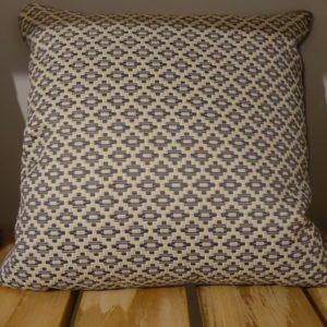 coussin motifs ethnique gris bleu 40x40 Toulouse boutiques