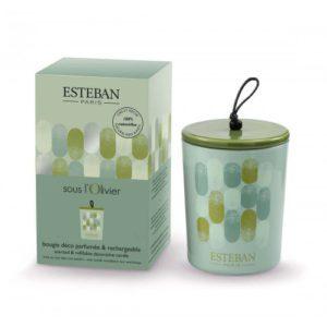 Bougie déco parfumée rechargeable Esteban sous l'olivier