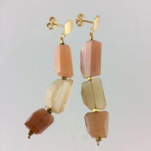 Boucle d'Oreille Moon Stone bijoux Atelier114