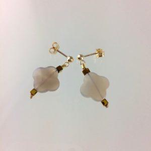 Boucle d'Oreille Trèfle agate bijoux Atelier114
