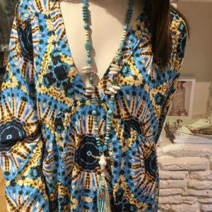 Collier-Kalifornia-Dream bleu blanc boutique vetement femme toulouse