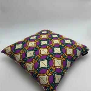 Coussin-violet-anneau-doré-vert-blanc greloo boutique déco toulouse toulouseboutique