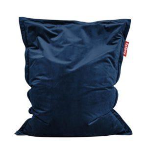 Fatboy Pouf Original Slim Velvet : Velours - 155 x 120 cm Bleu profond