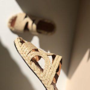 Mules aura en raphia-CLERGERIE boutique chaussure Toulouse