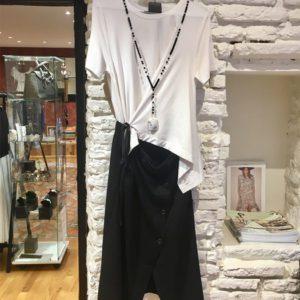 robe blanc noir ito concept destructuree boutique vetement femme toulouse