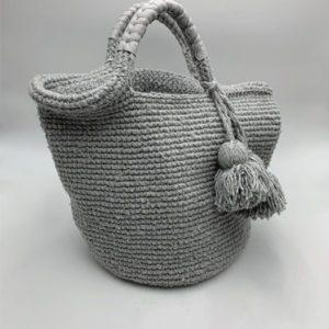 Sac-gris-et-pompon-gris boutique maroquinerie toulouse toulouseboutiques