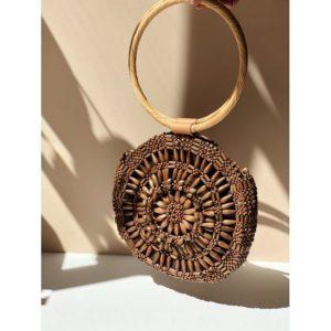 Sac rond en bois etienne Aranaz boutique Mode Toulouse