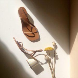 Boutique Sandales Toulouse en cuir nude Isla Loq2