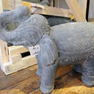 Sculpture éléphant gris décoration design Boutique Toulouse