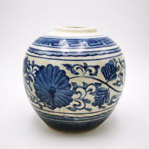 vase terre cuite bleu boutique decoration Toulouse terre lointaine