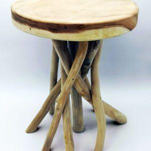 Tabouret en bois Boutiques decoration Terres Lointaines