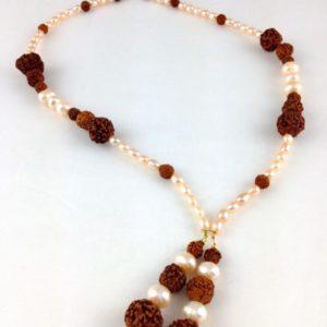 collier demi ras de cou perle culture eau douce bois rudraska boutique bijoux toulouse