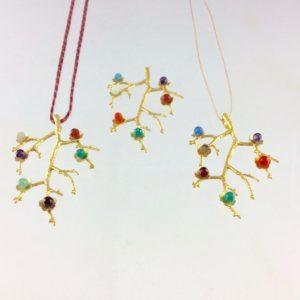 collier demi sautoir aventurine agate pierre lune amethyste boutique bijou toulouse