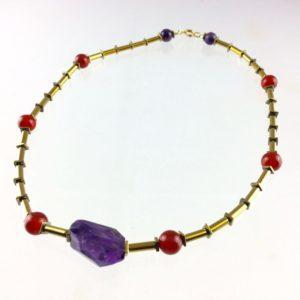 collier ras de cou amethyste cristal roche hematite agate boutique bijoux toulouse
