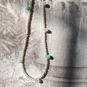 collier ras de cou aventurine quartz rose amazonite boutique bijoux toulouse