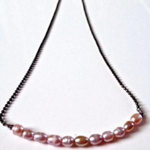 collier ras de cou chaine canon de fusil facon perle biseautee perle de culture boutique bijoux toulouse