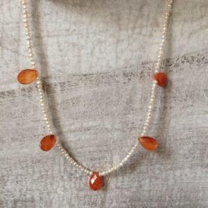 collier ras de cou cornaline boutique bijou toulouse