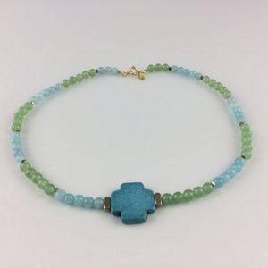 collier ras de cou croix magnesite agate hematite boutique bijoux toulouse