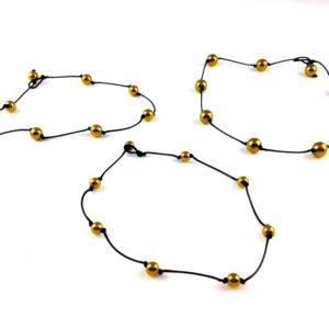 collier ras de cou hematite doree montee sur fil coton cire differentes tailles boutique bijoux toulouse