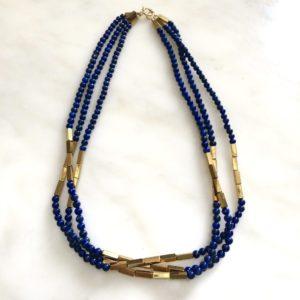 collier ras de cou lapis lazuli hematite boutique bijou toulouse