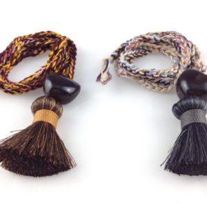 collier sautoir chataigne graine de kokua sur tresse coton boutique bijoux toulouse