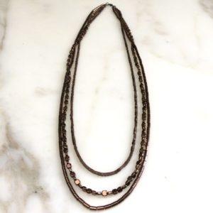 collier sautoir hematite bronze boutique bijoux toulouse
