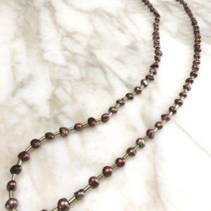 collier sautoir perle culture cuivree boutique bijou toulouse