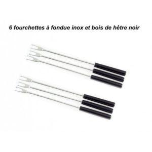 fourchette a fondue inox 6 pieces inox et bois noir Toulouse boutiques