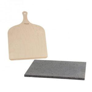 plaque de cuisson pierre refractaire en pierre de lave avec pelle Toulouse boutiques