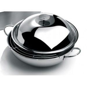 wok-cristel-inox-avec-grille-spatule-couvercle boutique art de la table Toulouse