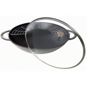 wok-staub-37cm-couvercle-verre boutique art de la table Toulouse