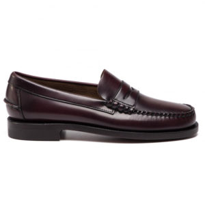 Sebago Mocassion Bargundy Brown Toulouse Boutiques