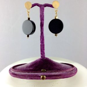 Boucles d'oreilles Onyx bijoux Toulouse