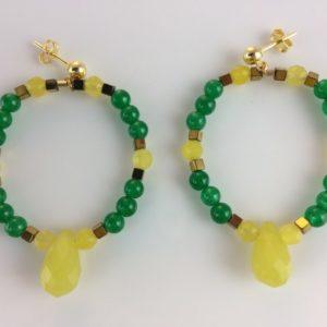 Boucles d'oreilles Poupoupidou Agate lemon quartz