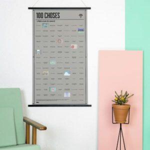 DOIY Poster 100 Choses à Tester dans sa Vie 100 Cases à Ouvrir 4