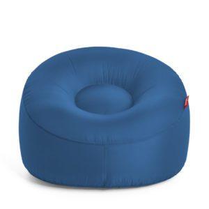 Fatboy Fauteuil gonflable Lamzac O / Tissu - Ø 103 cm Bleu pétrole