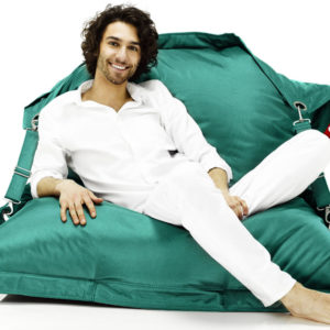 Fatboy Pouf Buggle-up Outdoor : Avec sangles ajustables Turquoise