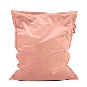 Fatboy Pouf Original Slim Velvet / Velours - 155 x 120 cm Rose pâle