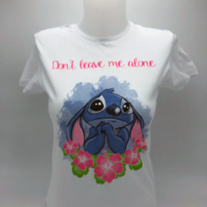 Don't leav me alone Stich t-shirt toulouse