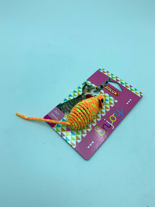 Jouet-souris-chat orange jaune magasin animalerie toulouse