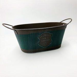 Pot gris en métal jardinière toulouse