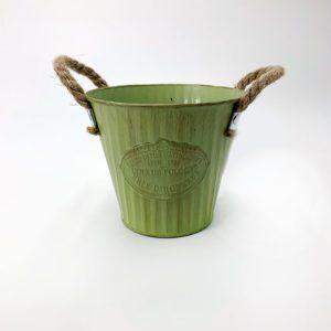 Pot rond métal vert jardinerie toulouse