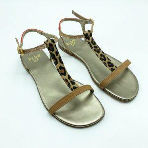 Sandales-Blow-Up-lannières-léopard-magasin chaussures toulouse