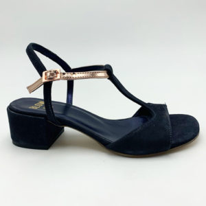 Sandales-petits-talons-navy-winstar magasin chaussures toulouse