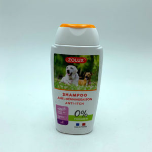 Shampoing-anti-demangeaison chien magasin animalerie toulouse
