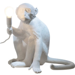 Saletti - Lampe singe assis blanc Toulouse Boutiques