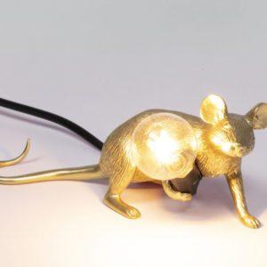 Saletti - Lampe de table souris dorée Toulouse Boutiques